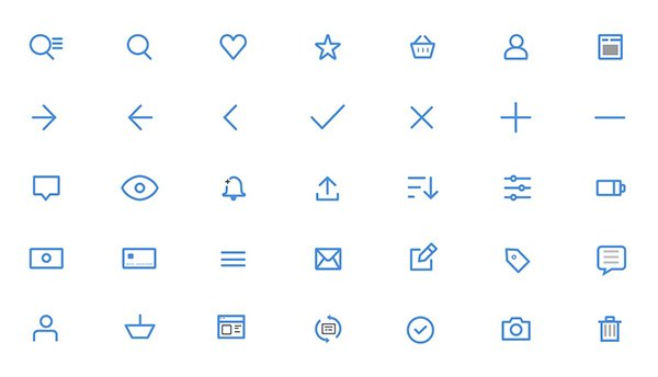 UI Icons for Sketch