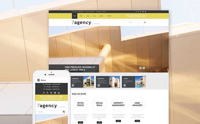 7agency - Real Estate Joomla Template