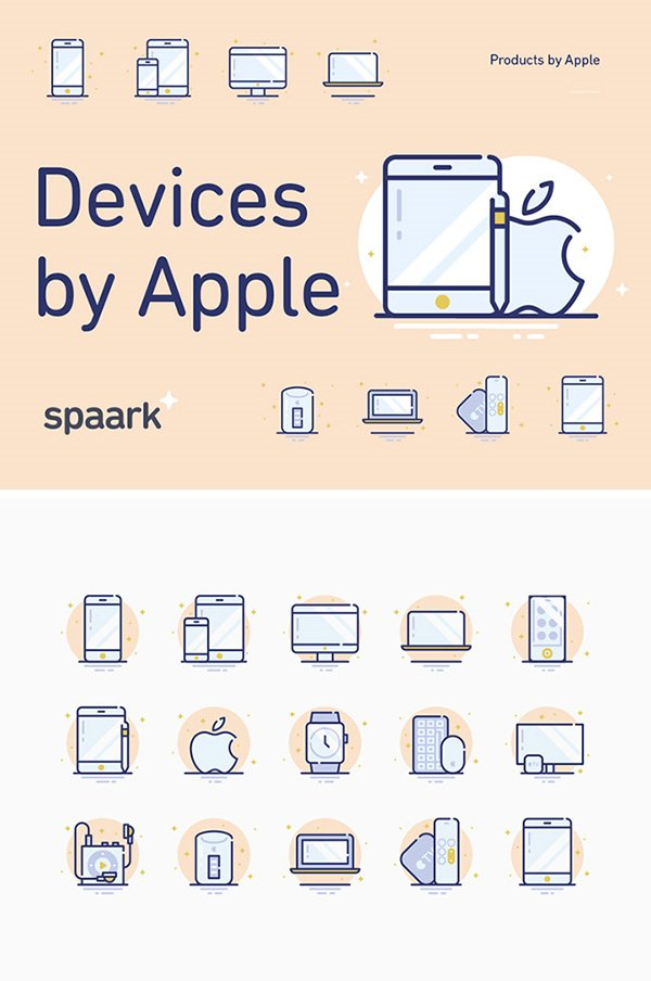 15 Apple Devices Icons