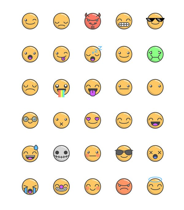 Emoticons Free Vector Pack