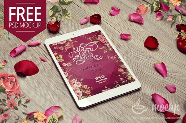 iPad Mini Mockup Valentine