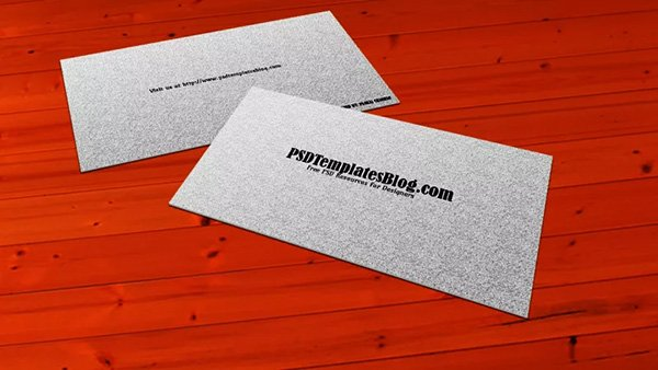 Simple Business Card Mockup Template