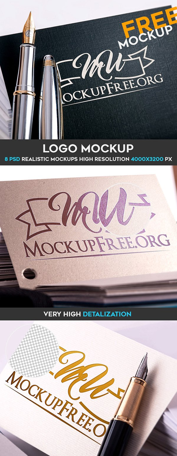 Free Logo Mock-Up Pack