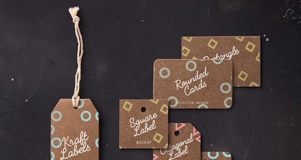 Kraft Label Cards