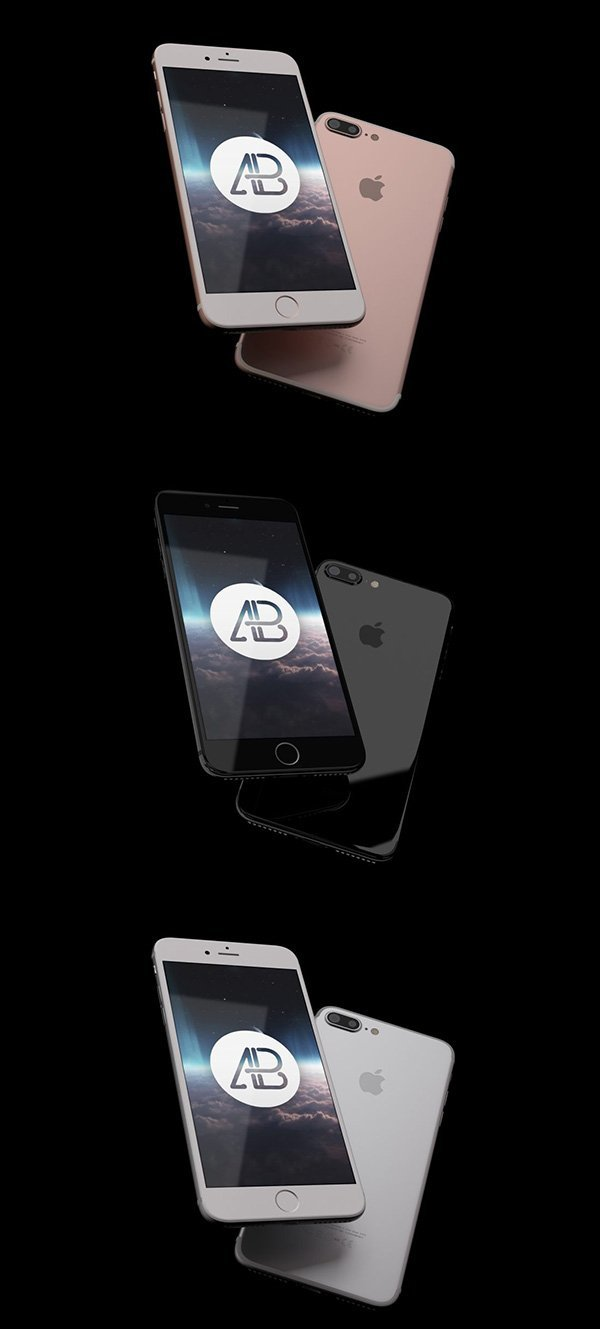 Realistic Iphone 7 Mockup Pack