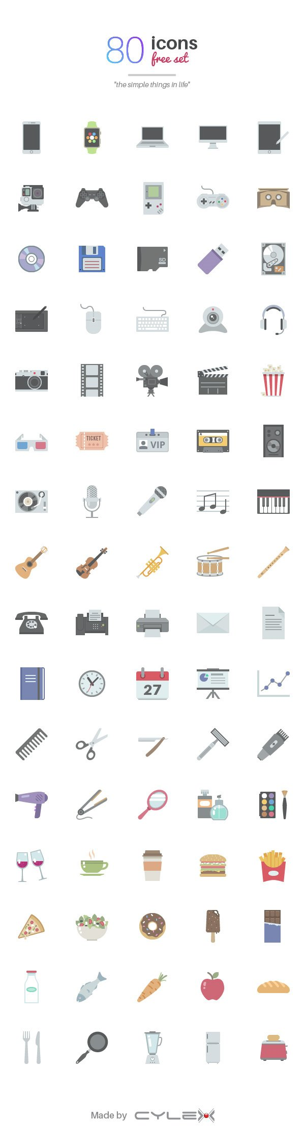 Simple Things in Life - 80 Icons