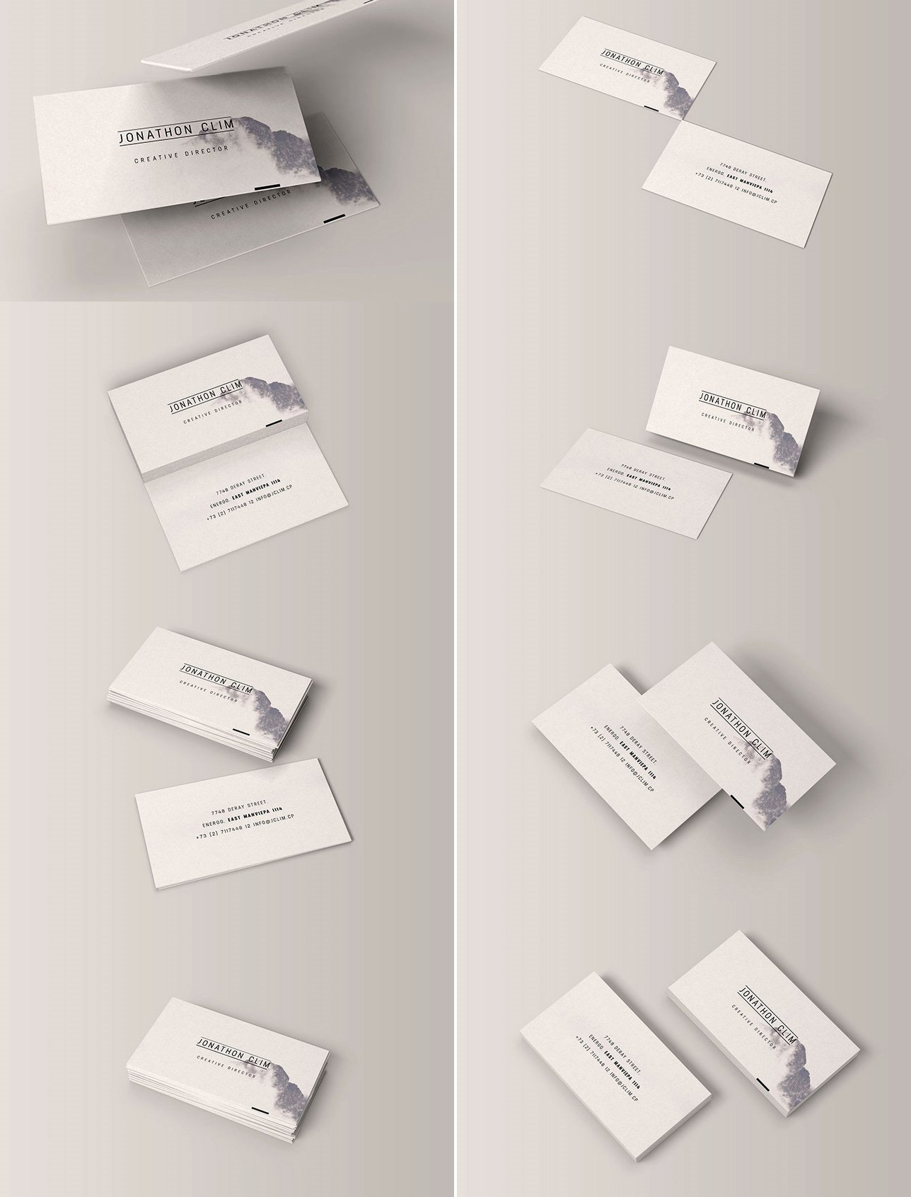 8 Free Business Card Mock-up Templates