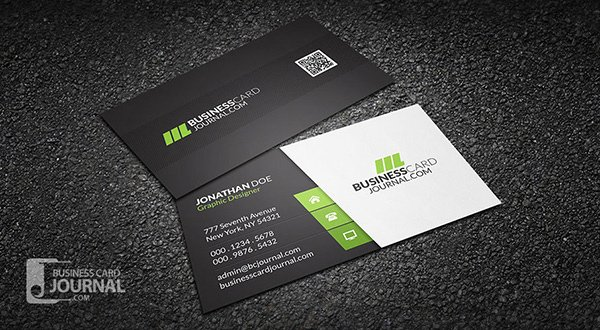 Clean & Stylish Corporate Business Card Template