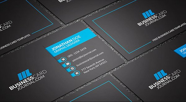 Dark & Bold Corporate Business Card Template