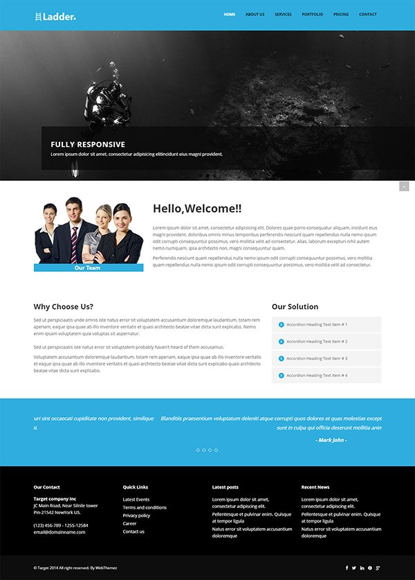Free Website Template Bootstrap. pixma responsive multipurpose ...