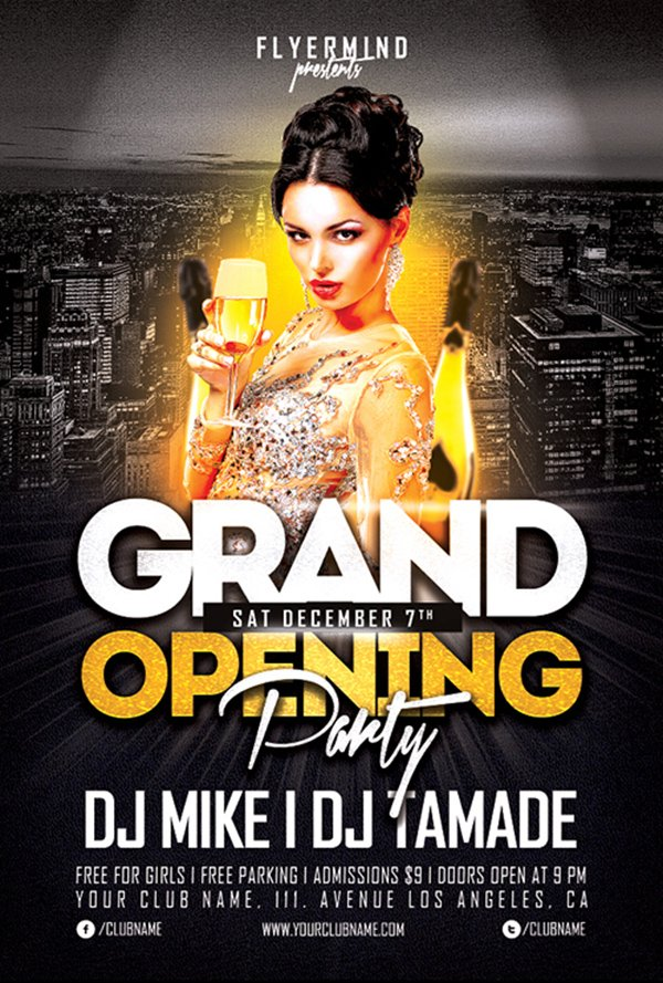 Free Flyer Template: Grand Opening Party Flyer Template