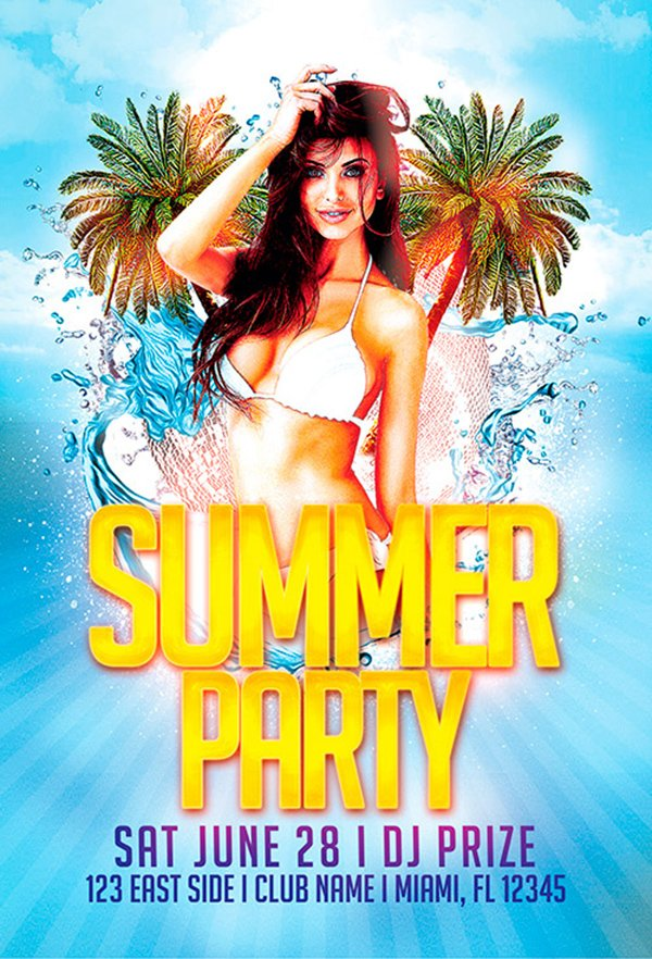Free Flyer Template: Summer Party Flyer