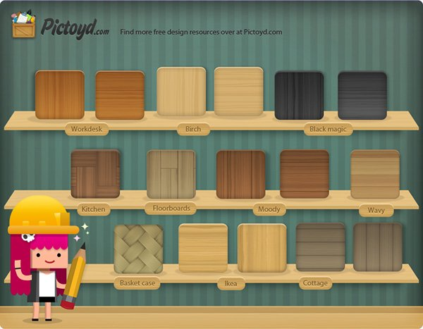 Free Photosh Wood Texture Pack