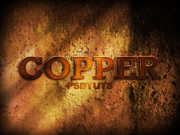 How To Create A Copper Photoshop Text Effect