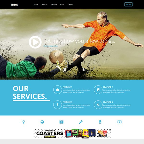 Iddo Sports Category Flat Bootstrap Template