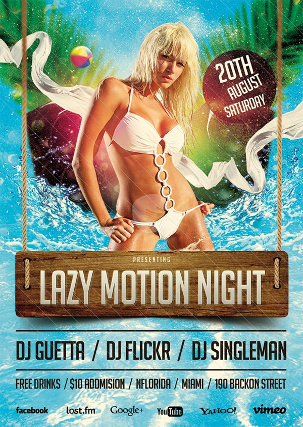 Lazy Motion Party Template