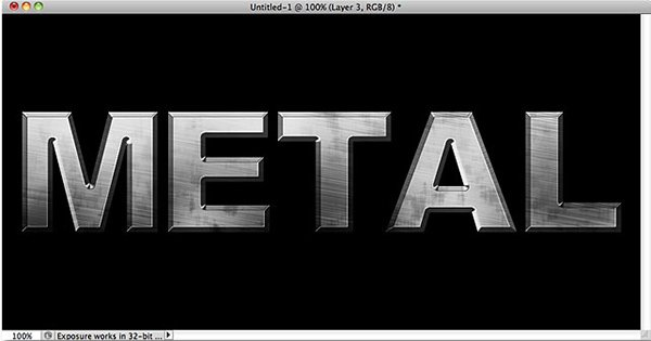 Metal Text Effect In Photoshop