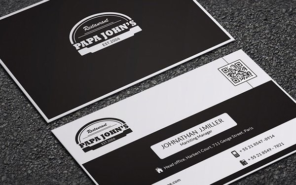 Papa John Business Card