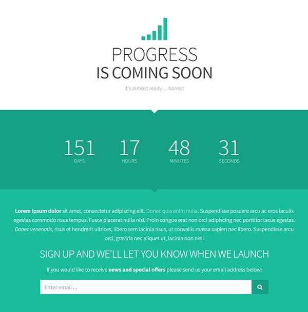 Progress - Coming Soon Template