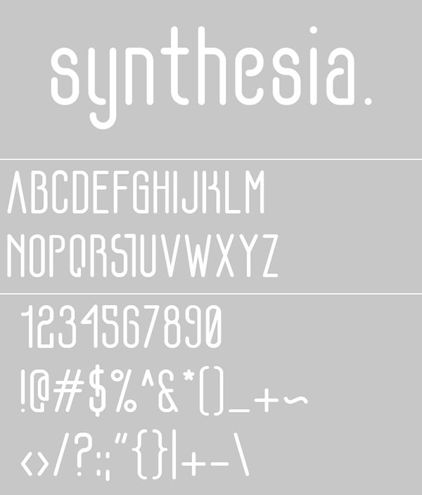 SYNTHESIA (Free Font)