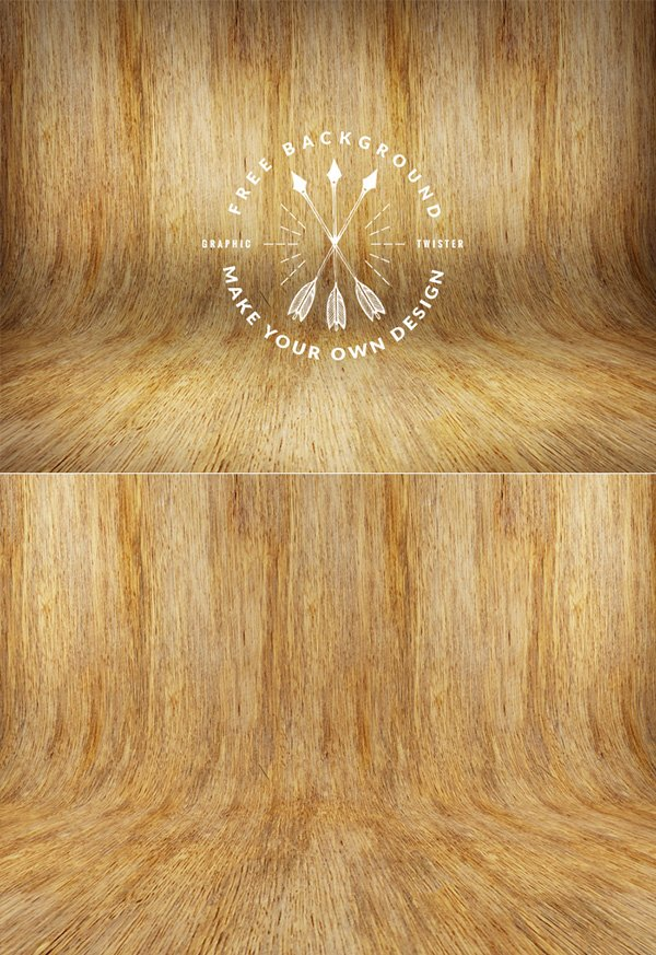 Curved Raw Wood Texture