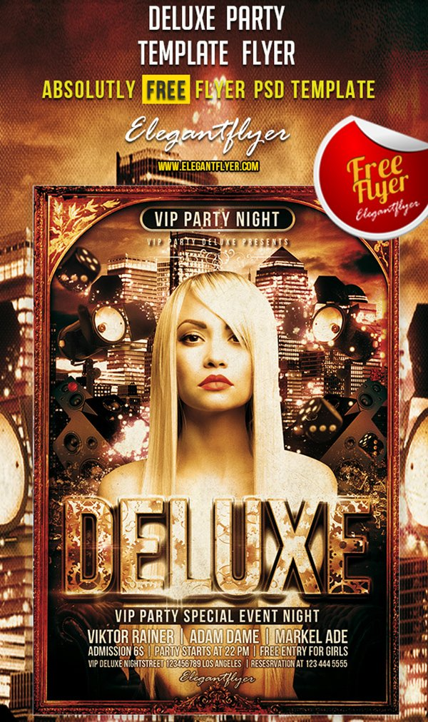 Deluxe Party – Free Club and Party Flyer