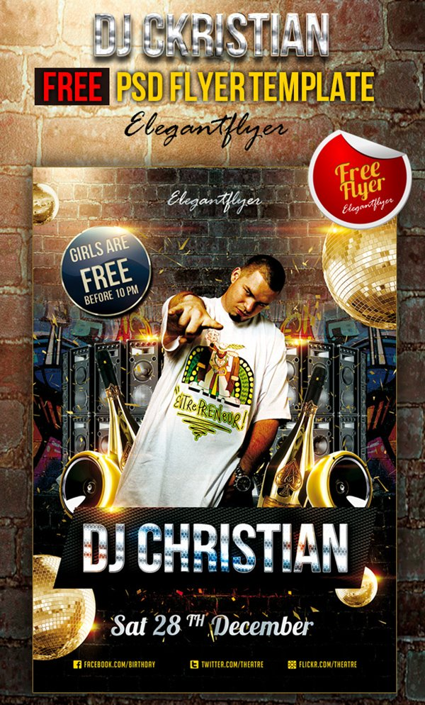 DJ Christian – Club and Party Free Flyer
