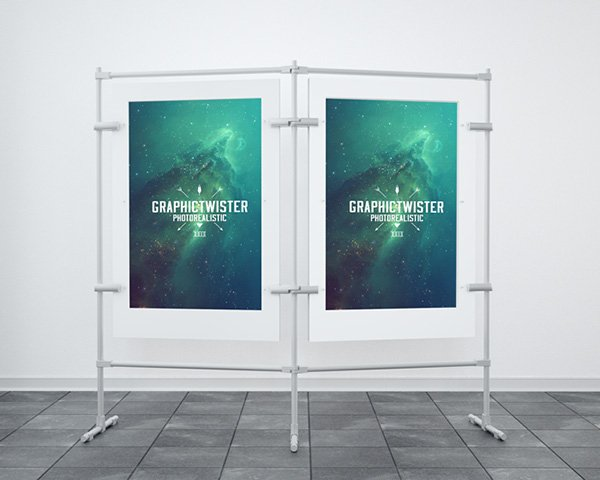 Double Stand Banner Mockup Template