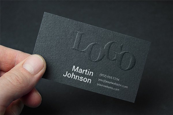 Embossed Business Card MockUp 2
