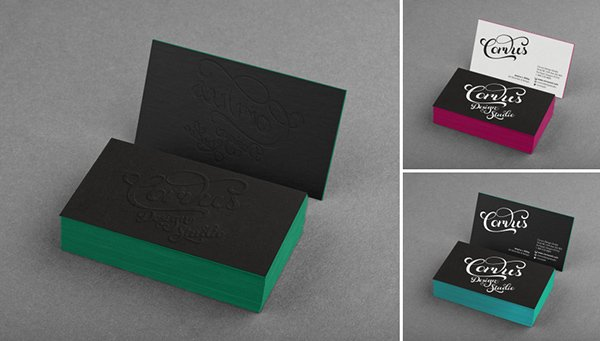Free Black Business Card Mockup