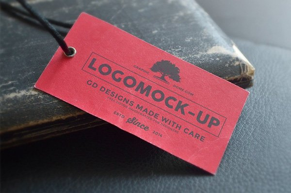 Vintage Paper Tag Presentation Mock-up