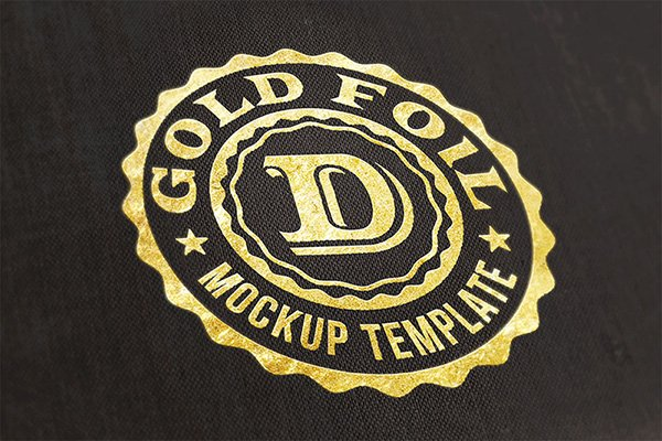 Free Logo Gold Foil Mock-up
