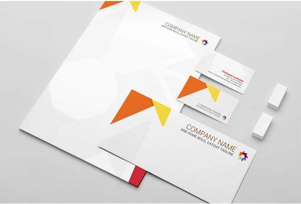 Free Stationery Mock-Up Template