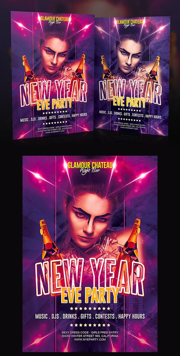 Free New Year Eve Party Flyer