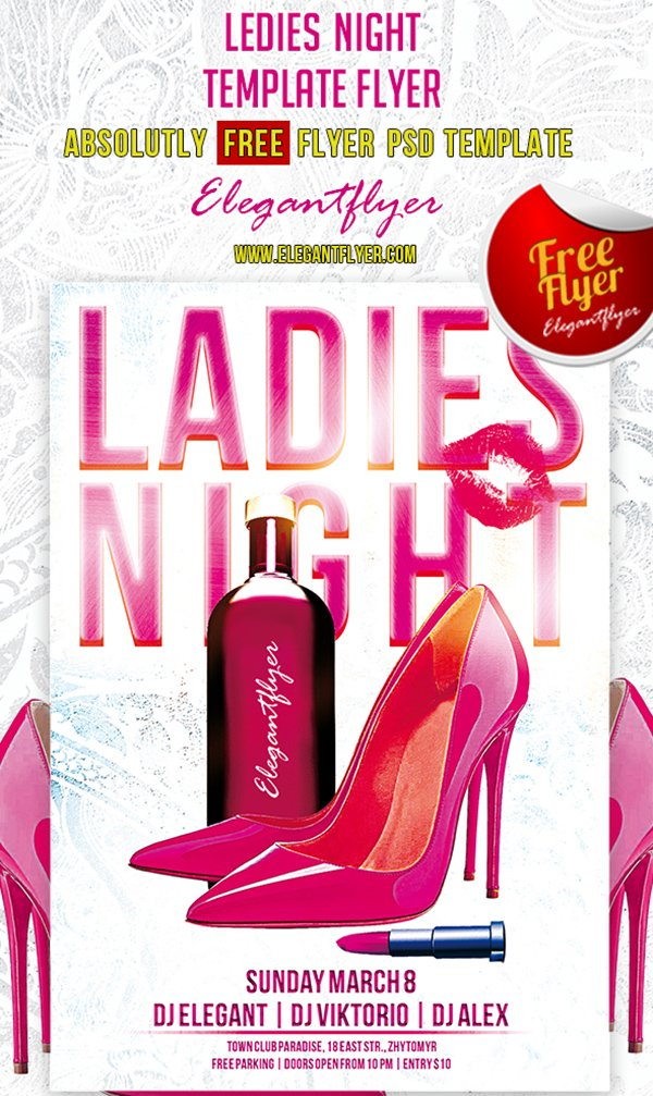 Ledies Night – Club and Party Free Flyer PSD Template