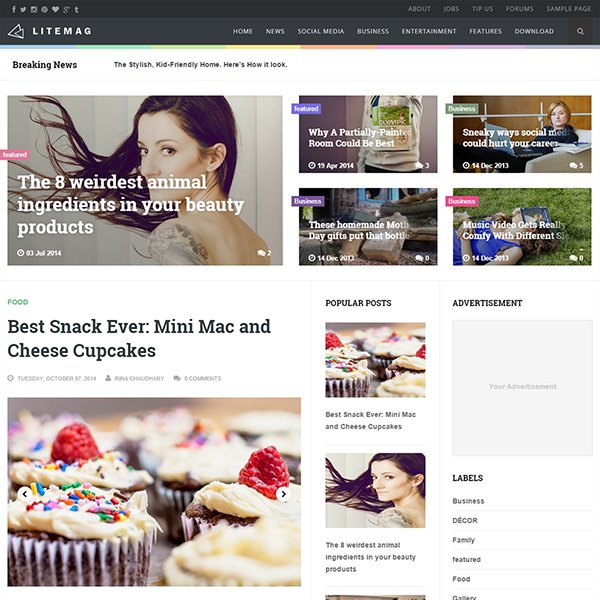 Litemag Clean & Responsive Blogger Template