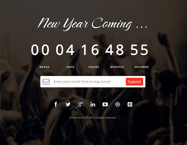 New Year – Responsive Melody HTML Template