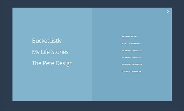 JQuery Square Menu